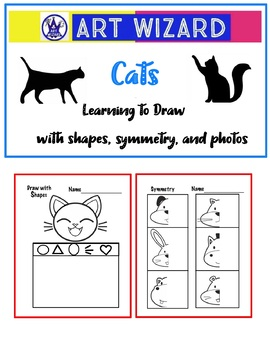 Art Science ... Drawing Cats - Learning to draw with shapes,symmetry & photos
