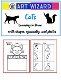 Cats - Learning to draw with shapes, symmetry & photos, Art Science