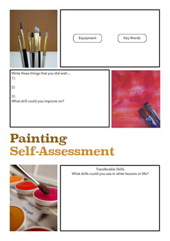 Art Self-Assessment Sheets with Teachers Notes