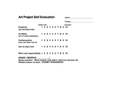 Art Self-Evaluation