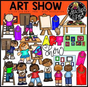 Art Show Clip Art Bundle {Educlips Clipart}