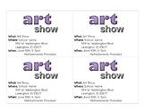 Art Show Invitations