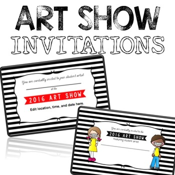 Art Show Invitations / Templates 2016 {editable}