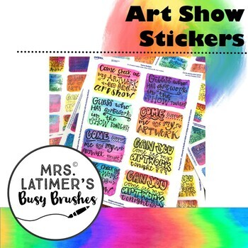 Art Show Stickers