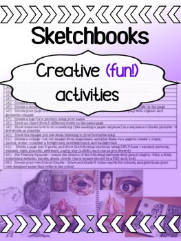 Art - First Week - Sketchbook Assignments