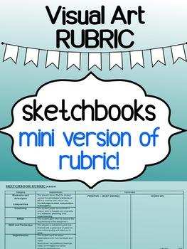 Art - Sketchbook MINI rubric - for high school