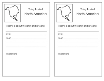 Art Sketchbook Passport or Art Portfolio Cover