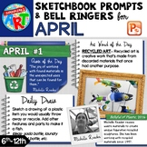 Art Sketchbook Prompts and Bell Ringers - APRIL