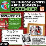 Art Sketchbook Prompts and Bell Ringers- DECEMBER