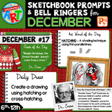 Art Sketchbook Prompts and Bell Ringers- DECEMBER