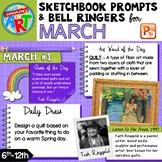 Art Sketchbook Prompts and Bell Ringers- MARCH
