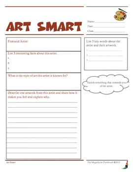 Art Smart: Artist Information Worksheet