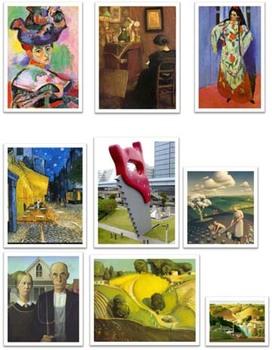 Art Smartboard Game/Lesson - Subject Matter (Portrait, Still Life & Landscape)