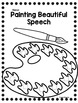 Art Speech Therapy Craft Color Identification Craftivity {