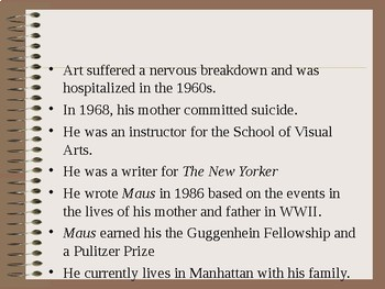Art Speigelman's Maus- Biographical Power Point