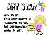 'Art Star' Certificate Freebie
