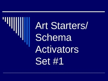 Art Starters/ Schema Activators Set 1