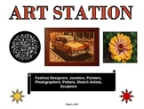 Elementary Literacy Center Sign: Art Station