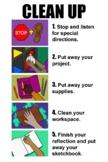 Art Studio Clean Up Poster