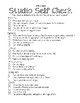 Art Studio Progress Checklist