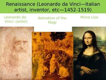 Art Styles PPT- Renaissance Art to Photo Realism--Companion to Final Exam--H.S.