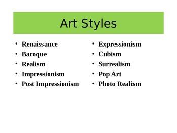 Art Styles PPT- Renaissance Art to Photo Realism--Companio