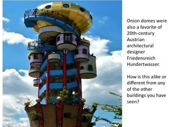 Art Sub Plan - A Home with an Onion Dome....and Other Buildings