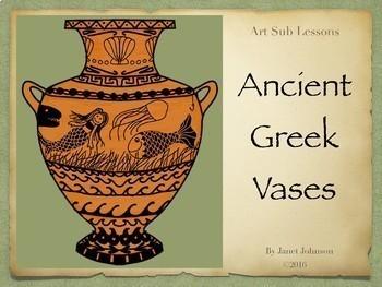 Art Sub Lesson Ancient Greek Vases By Art Sub Lessons Teachers Pay Teachers