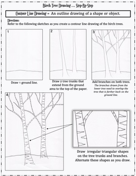 Art Sub Lesson: Birch Tree Drawing