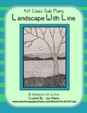 Art Sub Lesson: Landscape with Line