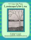 Art Sub Lesson: Landscape with Line