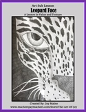 Art Sub Lesson: Leopard Face Drawing