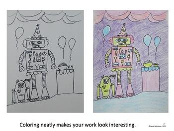 Art Sub Lesson - Robot Roundup