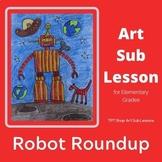 Art Sub Plan - Robot Roundup