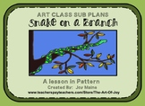 Art Sub Lesson: Snake On A Branch