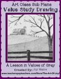 Art Sub Lesson: Value Study Drawing