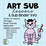 Art Sub Lessons Plan & Sub Binder Information