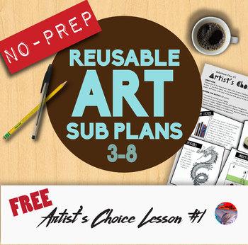 Art Sub Plans #1 - Reusable & No-Prep!