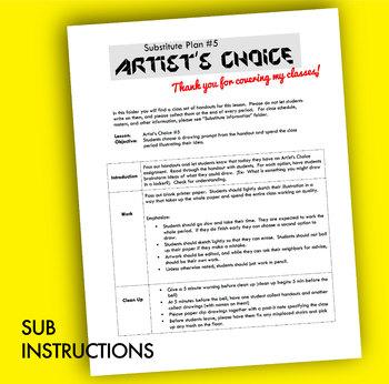 Art Sub Plans #5 - Reusable & No Prep!