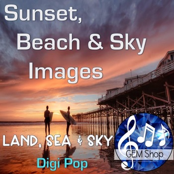 Art: Sunset, Beach & Sky Images, Backgrounds, Clip Art, Science, All Subjects