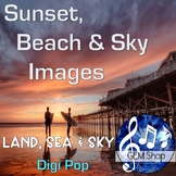 BACKGROUND PAPERS: Sunset, Beach & Sky Images, Clip Art, Science, All Subjects