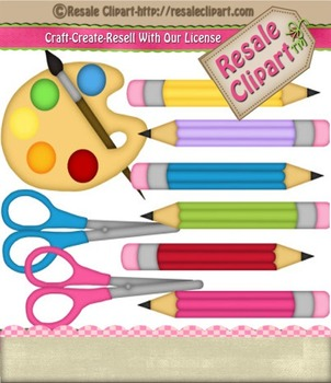 Art Supplies 1 clip art