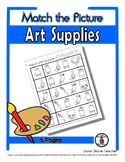 Art Supplies / Art Class Matching - Print, Answer & Color