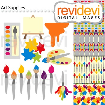 Art Supplies Clip Art