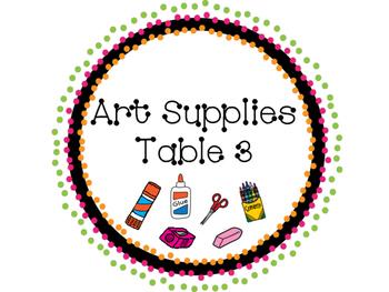 Art Supplies Labels