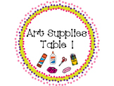 Art Supplies Labels
