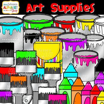 Art Supplies Clip Art {Mrs. Johnson's Alphabet Soup}
