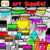 Art Supplies Clip Art {Mrs. Johnson's Alphabet Soup}