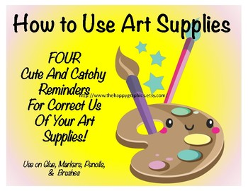 Art Supply Labels - Cute labels with catchy sayings!