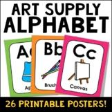 Art Supply Alphabet Posters Classroom Decor